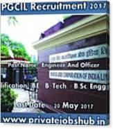 Pgcil Recruitment Canvas Print