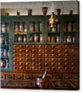 Pharmacy - Right Behind The Counter Canvas Print