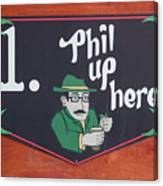 Phil Up Here Canvas Print