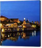 Philadelphia Art Museum - City Lights Canvas Print