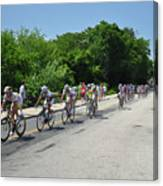 Philadelphia Bike Race - Manayunk Avenue Canvas Print