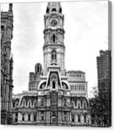 Philadelphia City Hall Building On Broad Street Canvas Print
