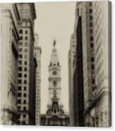Philadelphia City Hall From South Broad Street Canvas Print