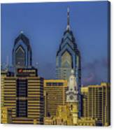 Philadelphia City Hall Skyline Canvas Print