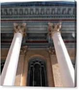 Philadelphia Classical Pillars - Looking Up Canvas Print
