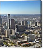 Philadelphia From North To South Canvas Print