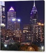 Philadelphia Full Moon Panorama Canvas Print