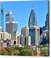 Philadelphia In Tight Canvas Print