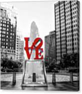 Philadelphia - Love Statue - Slective Coloring Canvas Print