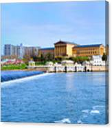 Philadelphia Museum Of Art And The Philadelphia Waterworks Canvas Print