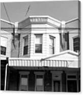 Philadelphia Row Houses - Black And White Canvas Print