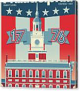 Philadelphia Poster - Independence Hall Canvas Print