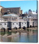Philadelphia Waterworks And Art Museum Panorama Canvas Print