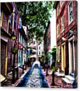 Philadelphia's Elfreth's Alley Canvas Print
