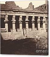 Philae, Cour Int?rieure, Colonnade De L'ouest Canvas Print