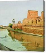 Philae On The Nile Canvas Print