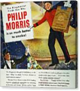 Philip Morris Cigarette Ad Canvas Print