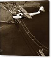 Philippine Clipper A Pan Am Clipper Over The Golden Gate Bridge  1935 Canvas Print