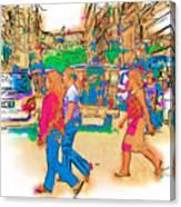 Philippine Girls Crossing Street Canvas Print