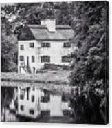 Philipsburg Manor House - Reflections - Bw Canvas Print