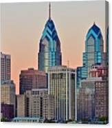 Philly At Sunset Canvas Print