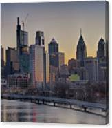 Philly Before Dawn From South Street Canvas Print