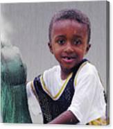 Philly Fountain Kid Canvas Print