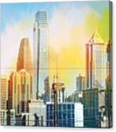 Philly From Drexel Hill Canvas Print