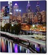 Philly In Panoramic View Canvas Print