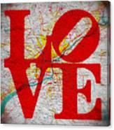 Philly Love V1 Canvas Print