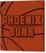Phoenix Suns Leather Art Canvas Print