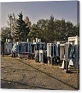 Phone Booth Graveyard Canvas Print