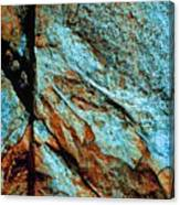 Line In The Rock Canvas Print