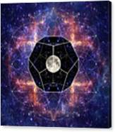 Photo Of The Moon And Sacred Geometry Canvas Print