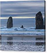 Photographer At Cannon Beach Canvas Print