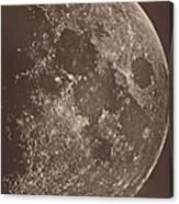 Photographie De La Lune A Son 1er Quartier Canvas Print