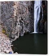Photographing Porcupine Falls Canvas Print