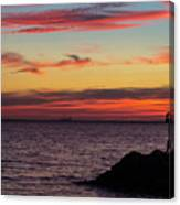Photographing The Sunset Canvas Print