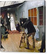 Photography Studio, C1878 Canvas Print