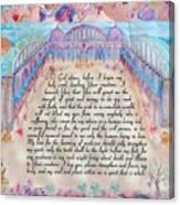 Physician Prayer- English Version Canvas Print