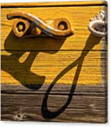 Pi Theta Shadows - Dock Cleat And Rope Canvas Print