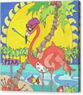 Pia The Flamboyant Flamingo Canvas Print