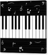 Piano And Music Background Canvas Print