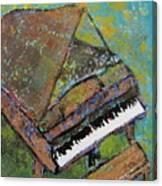 Piano Aqua Wall Canvas Print