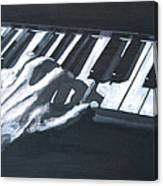 Piano Hands Plus Metronome Canvas Print
