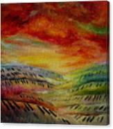Piano Key Dusk Canvas Print