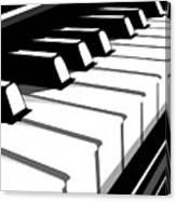 Piano Keyboard No2 Canvas Print