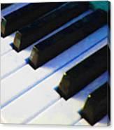 Piano Keys . V2 . Blue Canvas Print