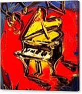 Piano Music Jazz Canvas Print