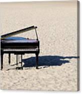 Piano On Beach Canvas Print